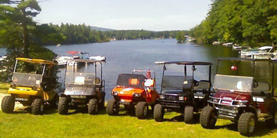 electric golf carts at sunshine acres campground in nh